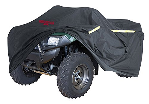 (Badass Moto Ultimate ATV Cover Waterproof Heavy Duty Four Wheeler Cover - Industrial Grade Water Proof Quad Cover, Taped Seams, Vents, Trailerable, Night Reflective, Zipper Tank Access, Medium 85 Inch)