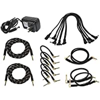 Monoprice Guitars Pedal Audio and Power Accessory Pack | Instrument, Pro Audio Cable Kit - StageRight