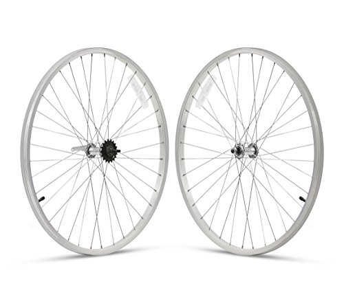 - Firmstrong 3-Speed Beach Cruiser Bicycle Wheelset, Front/Rear, Silver, 26