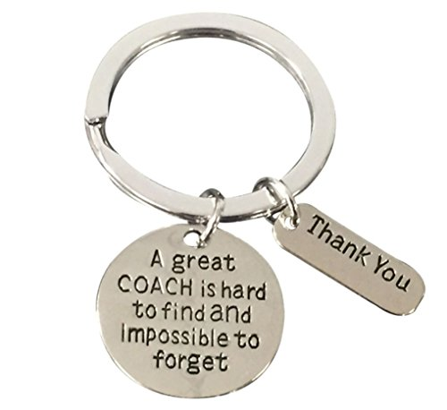 Coach Keychain, Coach Gifts, Great Coach is Hard to Find Coach Keychain
