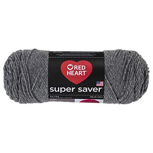 (RED HEARTSuper Saver Yarn, Grey Heather)