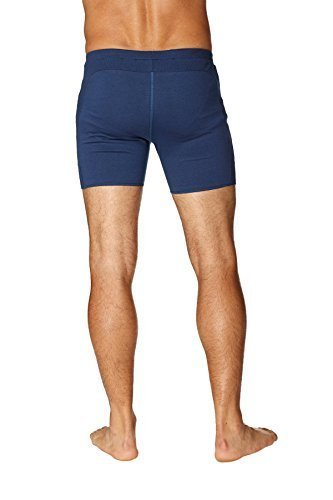 4-rth Mens Transition Yoga Shorts (Extra Small, Solid Royal Blue)
