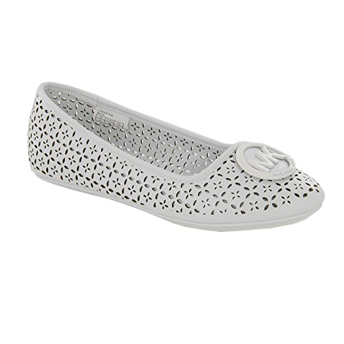 Michael By Michael Kors New Lyndsay Rae White Perf 1 Kids Shoes (Jane Michael Kors)