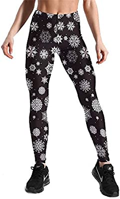 Leggins Desportivos Pantalones Yoga, Copos de nieve de ...