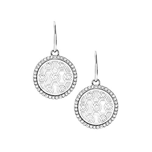 Michael Kors Logo Silver-Tone Drop Earrings from Michael Kors