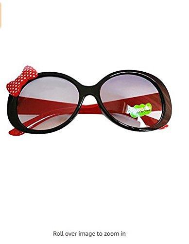 Gafas Cute Rosa ultravioletas Kids roja de Yuhemii Kids Rayos de Sol Prueba a Negro Bowknot Fashion AOEwUIq
