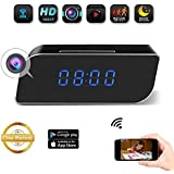 JLRKENG Wi-Fi HD1080P Small Hidden Spy Wireless Camera Desk Clock Recorder with 2200mAh Battery Motion Detection and Alarm Notification Real-time Monitoring for Both Android and IOS