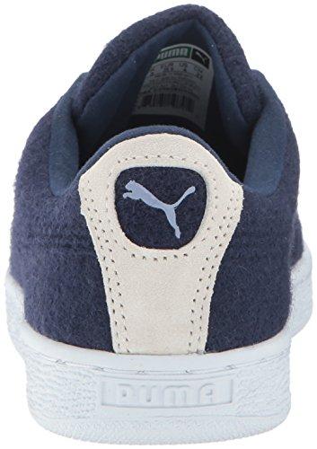 Cestino da uomo Classic Sneaker in lana con motivo in rilievo, Peacoat-Tempest, 5 M US