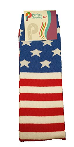 Price comparison product image Girls Knee High Long USA American Flag Socks (USA)