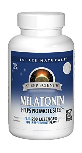 (Source Naturals Sleep Science Melatonin 1mg Peppermint Flavor - 200 Lozenges)