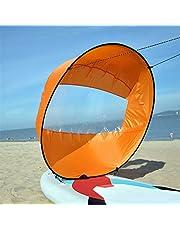 MOFENGWU Kayak Vela, De 42 Pulgadas / 108 Cm Plegable Kayak Barco De Vela Viento Canoa Sup Paddle Board con La Ventana Clara Deriva Navegación Accesorios,B