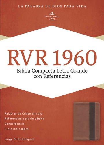 RVR 1960 Biblia Compacta Letra Grande con Referencias, cobre/marrón profundo símil piel (Spanish Edition)