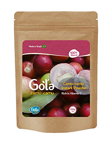 Camu Camu Powder (7oz - 200g) - Wild Harvested - Resealable Bag - High in Vitamin C 100% Natural Wildcrafted Superfruit Powder From Brazil