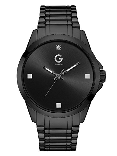 G by GUESS Men's Black and Crystal Watch