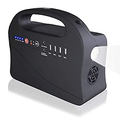 LEDKINGDOMUS Portable Generator Power Station, Home Camp Emergency Battery for CPAP