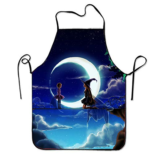 sgdgd Polyester Fabric Women's Fantasy Witch Apron, Home Baking or Kitchen Cooking, Graceful and Flirty