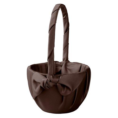 Ivy Lane Design Love Knot Flower Girl Basket, Chocolate