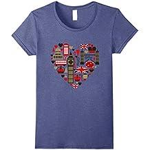 Vintage London Tshirt I Love Travel Wanderlust Union Jack