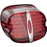 Kuryakyn 5420 Red Deluxe Panacea Taillight with License Light