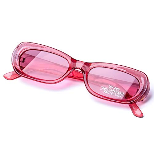 PINGLAS  Vintage Oval Mod Style Sunglasses For Women Candy Colors Frame Fashion Goggles, 49mm , Pink