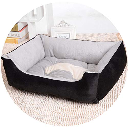 Full Cotton Dog Bed Sofa Lounger Cat House Product for Small Medium Large Pet Dog Basket Bed Various Sizes Puppy Warm Kennel ()