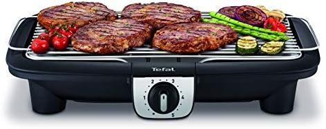 Tefal BG920812 Barbecue Électrique Easy Grill XXL Bbq sur Table Thermostat 5 Températures Cuisson Jusqu'à 10 Personnes 2500W