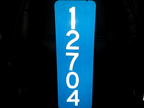 Number 3 Reflective Inch (911 Blue Reflective Address w/ 3