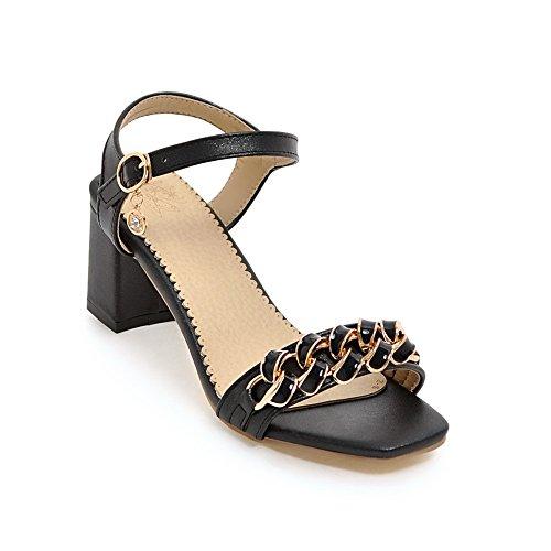 AdeeSu Womens Non-Marking Dress High-Heel Urethane Sandals SLC03913 Black mBHKjwqIft