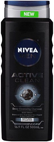 NIVEA FOR MEN Body Wash Active Clean 16.9 oz Pack of 12