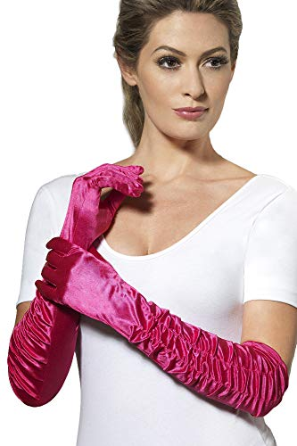Fever Women's Long Gloves, Pink, One Size, Temptress Gloves, 29763 ()