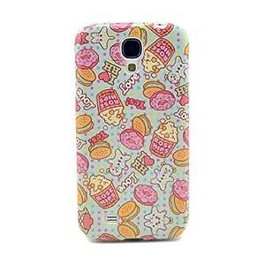 HC- Cartoon Donut & escaramujos Patrón IMD caso de TPU para Samsung Galaxy i9500 Galaxy S4