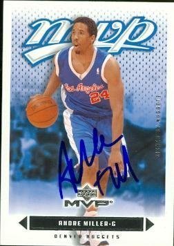 Andre Miller autographed Basketball Card (Los Angeles Cli...