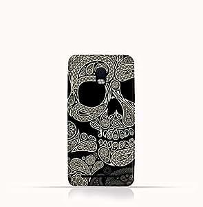 Blackberry Aurora TPU Silicone Case With Skull & Piesley Design