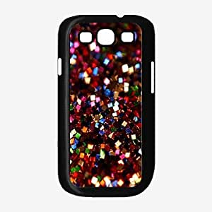 Red Square Glitter - Phone Case Back Cover (Galaxy S3 - TPU Rubber Silicone)