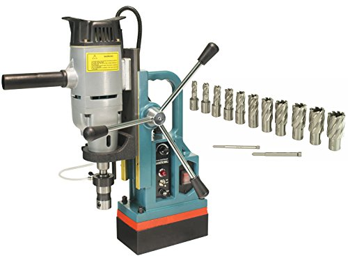 Steel Dragon Tools MD45 Magnetic Drill Press with 13PC 1'' HSS Annular Cutter Kit by Steel Dragon Tools
