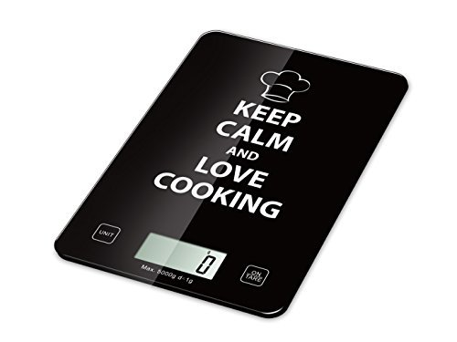 EZgoing Digital Kitchen and Food Scale. Tempered Glass Top. Slim Lightweight Weighing Scale. High Precision, Professional and Loved by All (Black)
