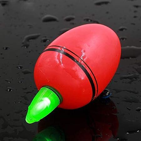 20g Curitely 2 Piezas LED Electr/ónica Flotador de Pesca Agua Salada Mar Rock Pesca Floatsluminous Pesca Boyas Balsa Madera con Luces Corchos