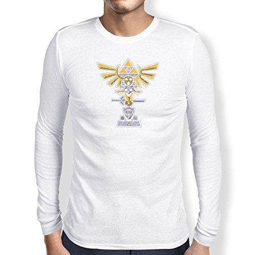 TEXLAB - Triforce Totem - Herren Langarm T-Shirt, Größe S, weiß