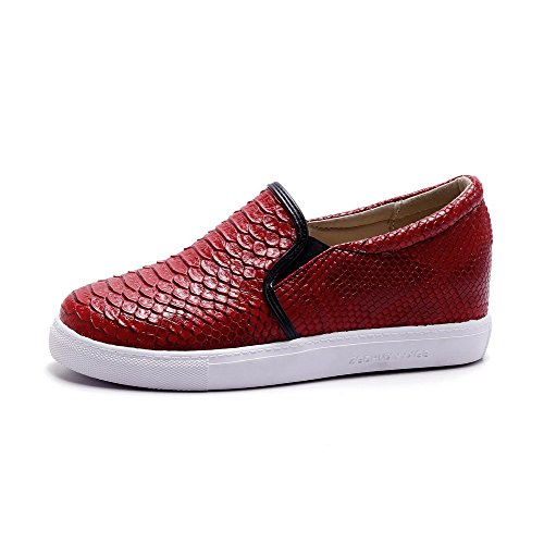Heels Assorted Toe Pull Closed Low Shoes Pumps On Color Round Red WeenFashion Women's qzntRtE
