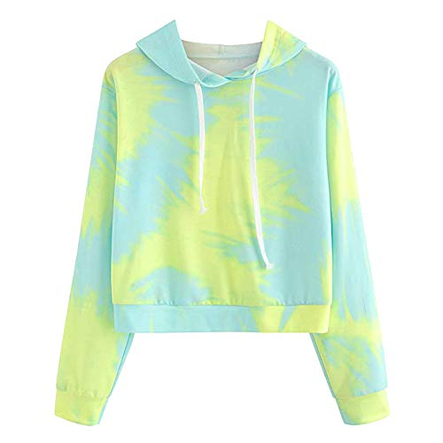 ANJUNIE tops Christmas Womens Printing Sweatshirt,Long Sleeve Hooded Casual Round Neck Blouse (Green, L)