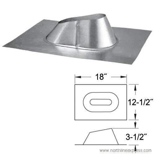 er Diameter - Type B Oval Gas Vent - Double Wall - Adjustabl, Galvalume (Oval Gas Vent)