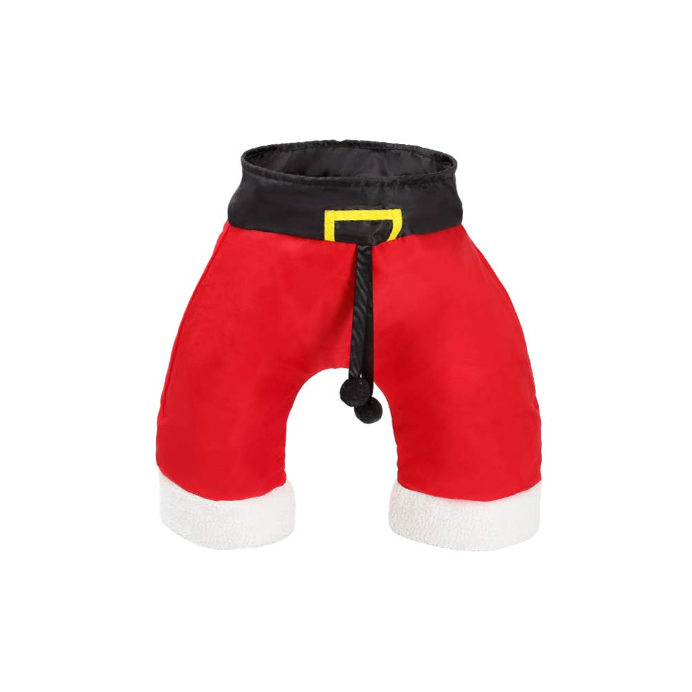 Balacoo Christmas Cat Tunnel Santa Pants Shape Collapsible 3 Way Play Toy Interactive Tube Toys for Cat Kitten Rabbit Small Animal by Balacoo