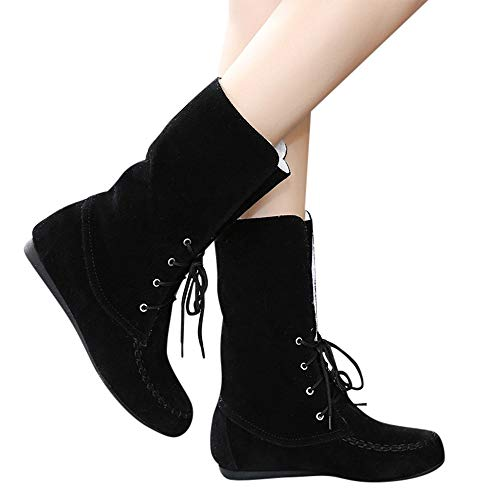 Hardy Wedge Boot - DongDong Seasonal Offers❣Women's Fashion Lace Up Snow Boots- Winter Warm Plus Velvet Round Toe Flat Shoes