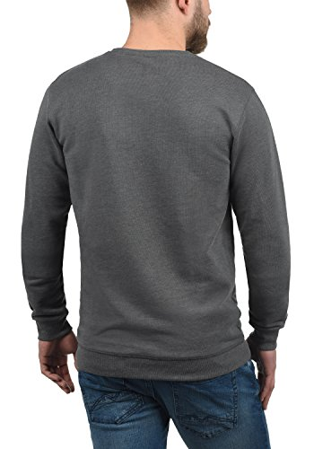 Sweat Encolure Melange 8236 solid Homme En Grey shirt Pull Rond Kian Sweat wIqI6Af