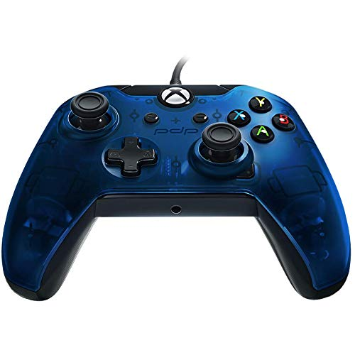 PDP Deluxe Wired Controller for Xbox One, Xbox One X and Xbox One S 048-129-NA-BL, Midnight Blue
