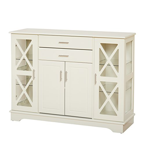Furniture Buffet Antique (Target Marketing Systems 30110AWH Kendall Buffet, Antique White)