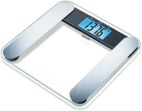 Beurer Body Fat Analyzer Scale Bmi, Multi-user Recognition, Digital Weight Scale, Xl Lcd Illuminated Display, Bf220