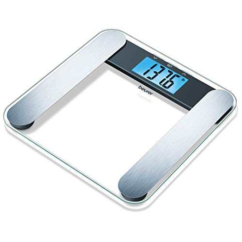 Beurer Body Fat Analyzer Scale Bmi, Multi-user & Recognition, Digital Weight Scale, Xl Lcd Illuminated Display, Bf220
