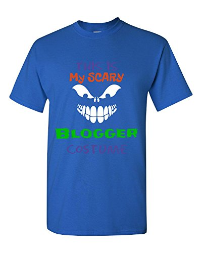 [This Is My Scary Blogger Halloween Costume - Adult Shirt 4xl Royal] (Fashion Bloggers Halloween Costumes)