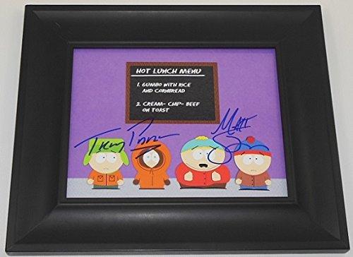 South Park Trey Parker Matt Stone Signed Autographed 8x10 Glossy Photo Gallery Framed Loa